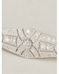 V Jewellery | Metallic Deco Streamline Bracelet | Lyst
