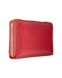 Lacoste | Red Chantaco Large Zip Wallet | Lyst