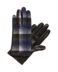 Halogen Blue Plaid Tech Gloves