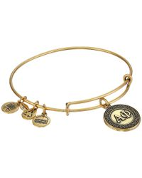 ALEX AND ANI | Metallic Alpha Phi Charm Bangle | Lyst