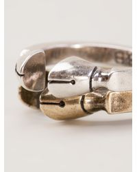 Giles & Brother - Metallic Pied De Biche Ring Set - Lyst
