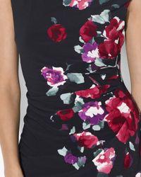Ralph Lauren Black Lauren Petites Dress Floral Print Matte Jersey
