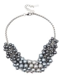 Jaeger Gray Pearl Cluster Necklace