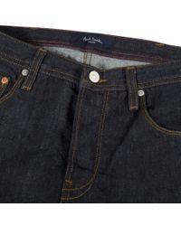 Paul Smith Black Men's Easy-fit Indigo-rinse Jeans for men