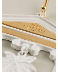 Malibu 1992   White Column Detail Earrings   Lyst