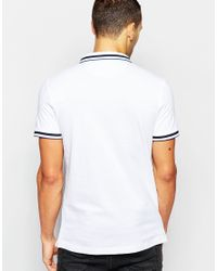 DKNY White Polo Shirt Fabric Collar for men