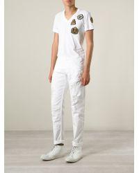 Philipp Plein - White Distressed Straight Leg Jeans for Men - Lyst