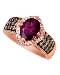 Le Vian | Pink 14 Kt. Strawberry Gold Rhodolite Diamond Ring | Lyst