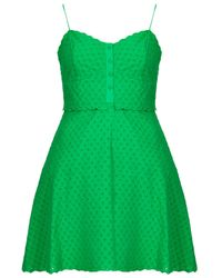TOPSHOP Green Pretty Broiderie Sundress