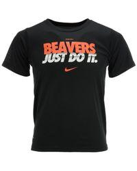 Nike Black Kids' Short-sleeve Oregon State Beavers Dri-fit T-shirt for men