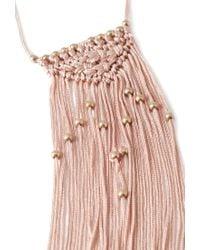 Forever 21 | Pink Macramé Fringe Necklace | Lyst