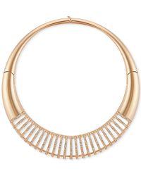 Swarovski | Metallic Rose Gold-tone Pvd Crystal Pavé Statement Necklace | Lyst