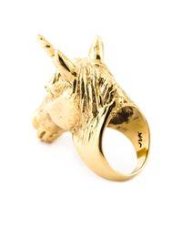 Leivan Kash | Metallic 'Unicorn' Ring | Lyst