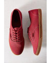 Vans Red Gumsole Authentic Lo Pro Sneaker