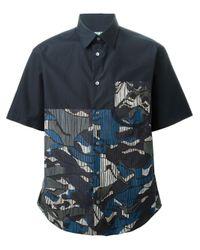 KENZO | Black Abstract Stripes Shirt for Men | Lyst