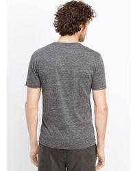 Vince Gray Jaspé Jersey Short Sleeve V-neck Tee for men
