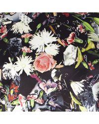 McQ Multicolor Festival Floral Print Sleeveless Biker Tee