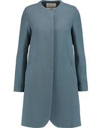 Goat Gray Redgrave Wool-crepe Coat