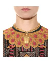 Valentino Metallic Scarab Necklace
