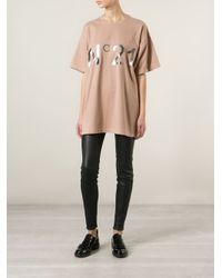 N°21 | Natural Oversized T-Shirt | Lyst