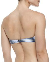 Splendid - Blue Striped/leopard-print Underwire Swim Top - Lyst