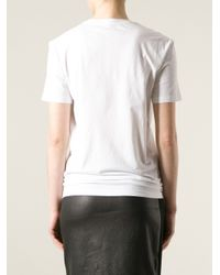 McQ - White Floral Lace Logo Print Tshirt - Lyst
