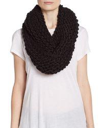 Modena Black Knit Infinity Scarf