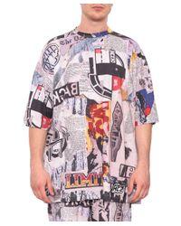 KTZ - Multicolor T-shirt Newspaper Cotone for Men - Lyst
