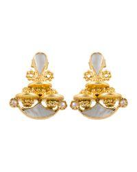 Kastur Jewels | Gray Heritage Simple Mother Of Pearl Earrings | Lyst