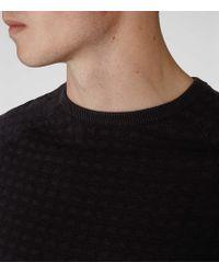Reiss | Black Battersea Textured Jumper for Men | Lyst