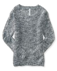 Aéropostale | Gray Long Sleeve Textured Crew-neck Sweater | Lyst