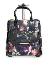 Ted Baker - Gray 'shadow Flora' Travel Bag - Lyst