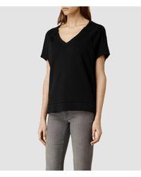 AllSaints | Black Tri Sweatshirt | Lyst
