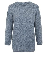 08fdcdfa41d6 A.P.C. Navy Cherbourg Space Dye Baby Camel Jumper in Blue - Lyst