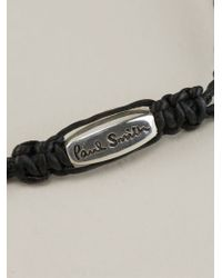 Paul Smith - Black Id Bracelet for Men - Lyst