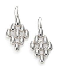 Ippolita - Metallic Glamazon Sterling Silver Uovo Bead Cascade Drop Earrings - Lyst