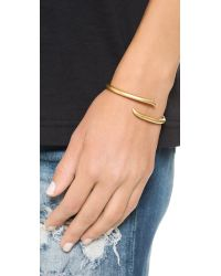 Madewell Metallic Carrie Claw Cuff Bracelet - Vintage Gold