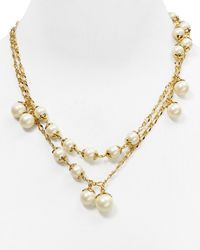 kate spade new york | Natural Petaled Pearls Wrap Necklace, 40"