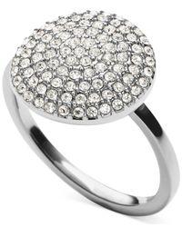 Michael Kors | Metallic Crystal Pavé Disc Ring | Lyst