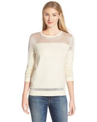Vince Camuto | White Illusion Yoke Sweater | Lyst