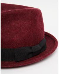 Catarzi - Red Pork Pie Hat for Men - Lyst