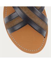 Bally Natural Amadis Men's Leather Sandal In Black for men