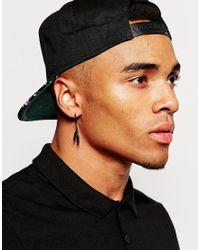 ASOS | Feather Hoop Earring Pack In Black for Men | Lyst