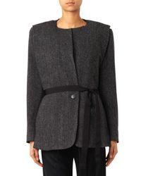Isabel Marant Gray Flo Herringbone Wool Jacket