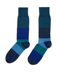 Paul Smith | Blue Odd Tower Block Stripe for Men | Lyst