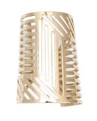Pierre Hardy - Metallic Grid Cuff - Lyst