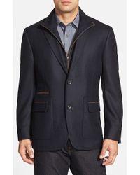 Kroon Blue 'p. Funk' Classic Fit Wool & Cashmere Sport Coat for men