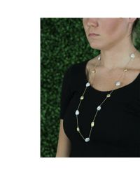 Yvel - White Keshi Pearl Station Necklace - Lyst