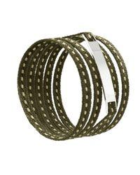 Ursul | Natural Le Lacet Parisien Khaki Cotton Lace-up Bracelet for Men | Lyst