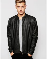 Jack & Jones | Black Faux Leather Jacket for Men | Lyst